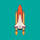 Space Shuttle Launch With Vintage. Space Shuttle Launch With Vintage vector illustration