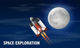 A space shuttle launched. Illustration stock illustration