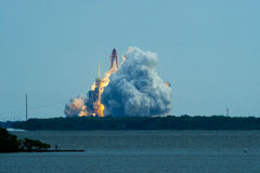 Space Shuttle launching. Space shuttle Endeavor STS-134 launching, Cape Canaveral, Florida, U.S.A Royalty Free Stock Photos