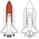 Space Shuttle. Layered vector illustration of Space Shuttle with white background Stock Photo