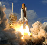 Space shuttle liftoff  Stock Photo