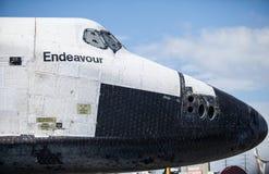 Space Shuttle Endeavour Nose. Closeup Stock Photography