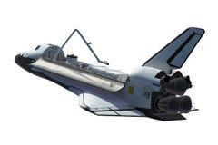 Space Shuttle Orbiter Isolated Over White Background. 3D Illustration vector illustration