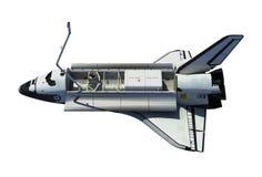 Space Shuttle Orbiter Isolated On White Background. 3D Illustration vector illustration