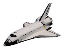 Space Shuttle. Orbiter. Realistic 3D Model Of Space Shuttle Orbiter Royalty Free Stock Photography