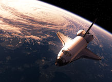 Space Shuttle Orbiting Eart Royalty Free Stock Photo