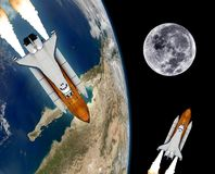 Space Shuttle Rocket Spaceship Stock Image