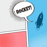 Space shuttle rocket. Theme art illustration stock illustration