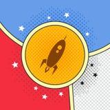 Space shuttle rocket. Theme vector art illustration vector illustration