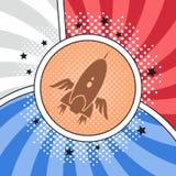 Space shuttle rocket. Theme vector art illustration royalty free illustration