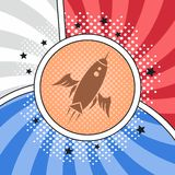 Space shuttle rocket. Theme vector art illustration stock illustration