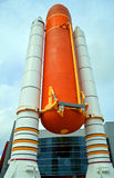 Space Shuttle Solid Rocket Boosters and External Tank on display at Kennedy Space Center Stock Photos