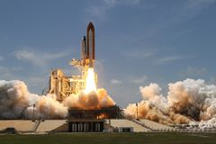 Space Shuttle Start and Take Off Stock Photo