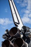 Space Shuttle Endeavour, Tail and Engine Stock Image