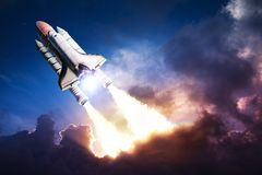 Space shuttle. Taking off on a mission Royalty Free Stock Images