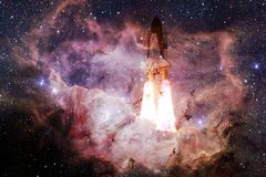 Space shuttle taking off on a mission royalty free stock photos