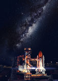 Space shuttle taking off on a mission Royalty Free Stock Photo
