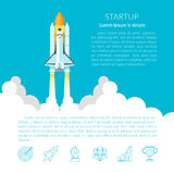 Space Shuttle(text). Space Shuttle. Space shuttle taking off on a mission vector illustration