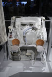 Space shuttle toilet. Uses air suction instead of water to dispose of waste Royalty Free Stock Image