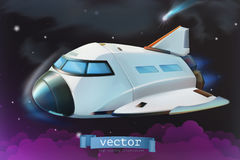 Space shuttle. Vector icon. 3d stock illustration