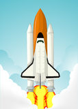 Space shuttle. Vector illustration background Stock Image