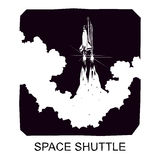 Space Shuttle, vector silhouette Royalty Free Stock Photo