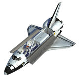 Space Shuttle On White Background. Space Shuttle. Realistic 3D Model vector illustration