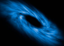 Space Singularity Illustration. Illustration of the accretion disk surrounding a singularity in outer space Stock Photos