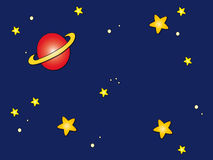 Space sky cartoon Stock Photo