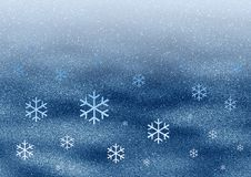 Space snowflakes Royalty Free Stock Photography
