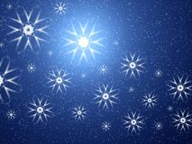 Space snowflakes royalty free stock image