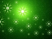 Space snowflakes Royalty Free Stock Photo