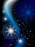 Space snowflakes. And winter night Royalty Free Stock Images