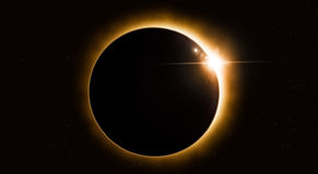 Space Solar Eclipse Stock Image