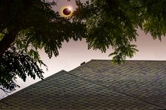 Space Solar Eclipse. Solar system, Solar flare,Total Eclipse royalty free stock photography