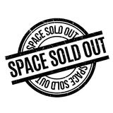 Space Sold Out rubber stamp Stock Photos