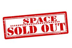 Space sold out. Rubber stamps with text space sold out inside,  illustration Royalty Free Stock Photography