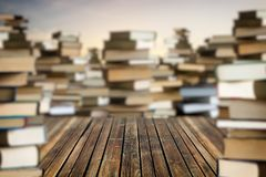 Space among stacks of books Royalty Free Stock Photo
