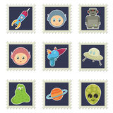 Space stamps Royalty Free Stock Photography