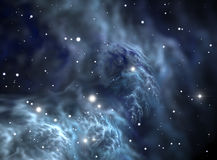 Space star nebula. Space background filled with nebulae and stars Royalty Free Stock Images