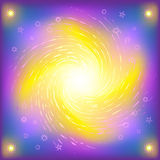 Space star shone spiral Stock Image