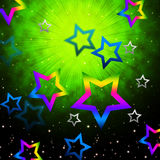 Space Stars Backround Shows Light Explosion In Sky Royalty Free Stock Images