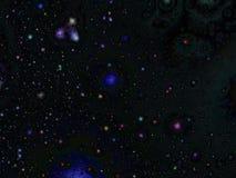 Space stars seasonal background. Space stars background, magical seasonal festive celebration Royalty Free Stock Photo