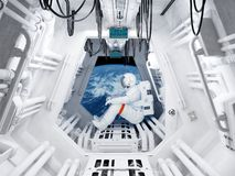 The space station stock images