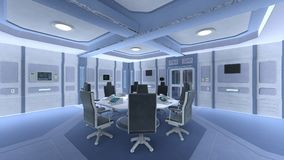 Space station conference room Stock Photography
