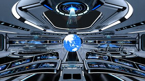 Space station control room Stock Photos