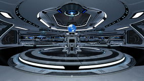 Space station control room Stock Images