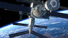 Space Station. In Space. 3D Animation stock video
