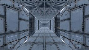 Space station. 3D CG rendering of the space station Royalty Free Stock Photos