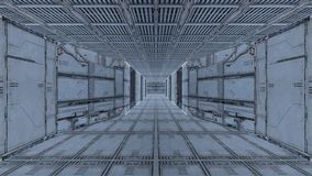 Space station. 3D CG rendering of the space station Stock Image